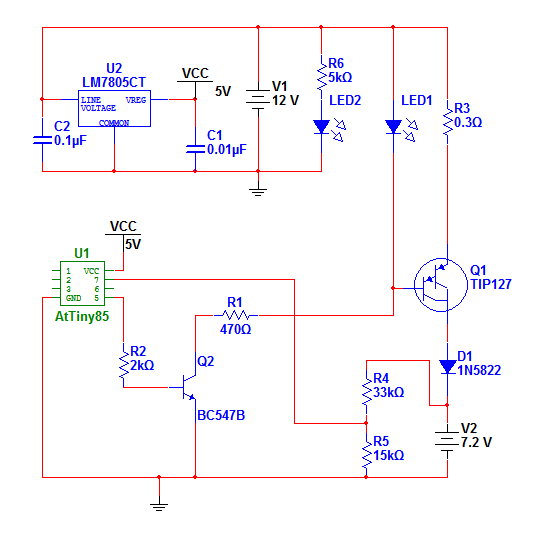Nimh charger schematic elettronica arduino